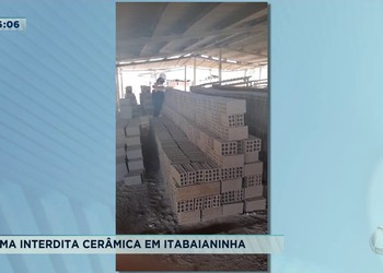 Adema interdita cerâmica em Itabaianinha