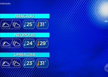 Previsão do tempo para a capital sergipana e cidades do interior